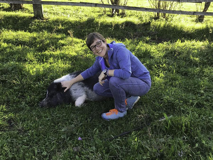 Isabel Steinhauser mit Hund
